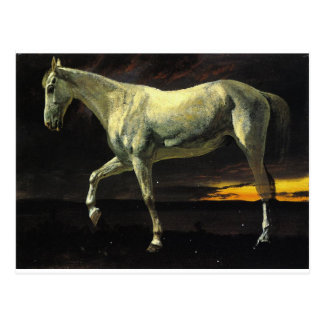 White Horse and Sunset by Albert Bierstadt Postcard
