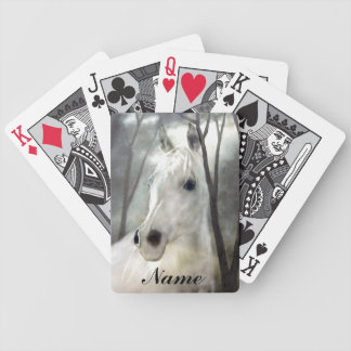 White Horse Bicycle Playing Cards