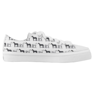White Horse/Black Horse Low Tops