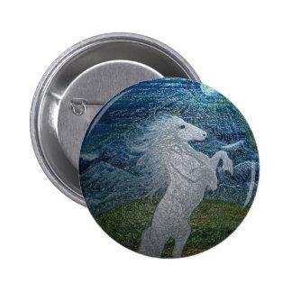 White Horse Button Badge