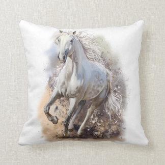 White horse cushion