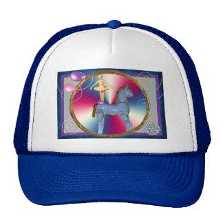White horse dancer cap