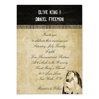 White Horse Elegant Wedding Invitation