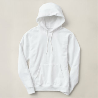 white horse embroidered ladies pullover hoodie