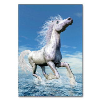 White horse freedom - 3D render Card