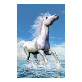 White horse freedom - 3D render Stationery