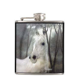White Horse Hip Flask