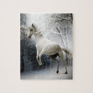 White Horse in Winter Jigsaw Puzzle