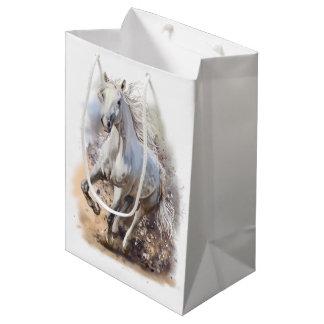 White horse medium gift bag