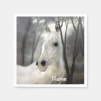 White Horse Paper Serviettes