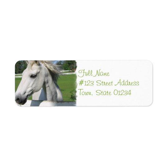 White Horse Return Address Label