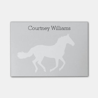 White Horse Silhouette with Name Post-it Notes