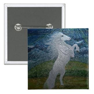 White Horse Square Button