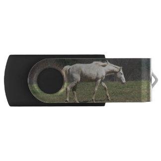 White Horse Walking USB swivel flash drive Swivel USB 2.0 Flash Drive