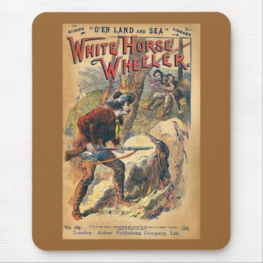 White Horse - Western Dime Novel - Vintage Mouse Pads