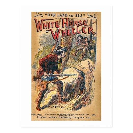 White Horse - Western Dime Novel - Vintage Post Cards