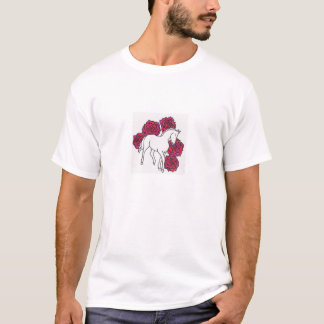 white horse with roses T-Shirt