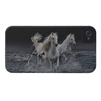 White Horses iPhone 4 Case-Mate Case
