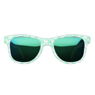 White Houndstooth Pattern Sun Glasses Choose