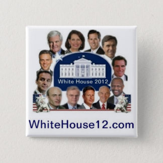 White House 2012 15 Cm Square Badge