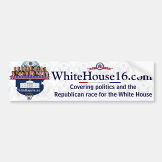White House 2016 G.O.P. Presidential Candidates Bumper Stickers