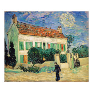 White House at Night by Vincent Van Gogh Photo Art