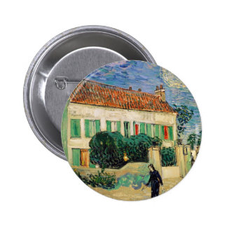 White house at night - Vincent van Gogh Button