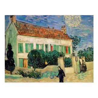 White house at night - Vincent van Gogh Postcard