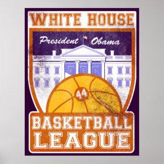 White House Basketball League Vintage Poster