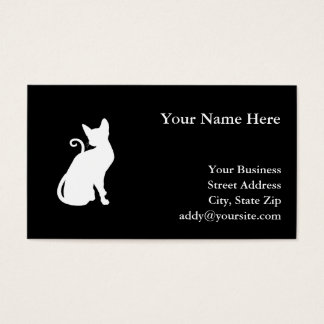 White House Cat Business Card