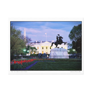 White House- Lafayette Square- Spring Canvas Print