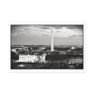 White House- National Mall- Aerial Canvas Print