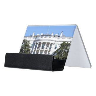 White House of the United States - Washington DC Desk Business Card Holder