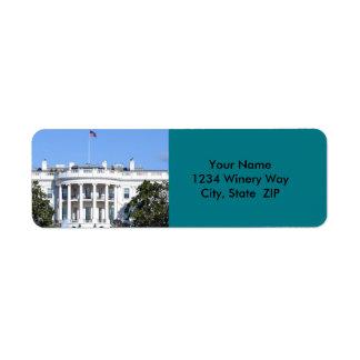 White House of the United States - Washington DC Return Address Label