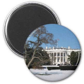 White House Photo 6 Cm Round Magnet