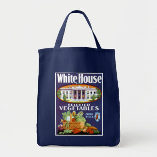 White House Selected Vegetables Grocery Tote Bag