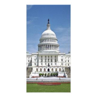 White House US Capitol Building Washington DC Photo Card