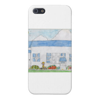 White House with Blue Roof iPhone 5/5S Case