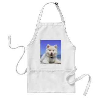 White Husky Puppy with Blue Eyes Standard Apron