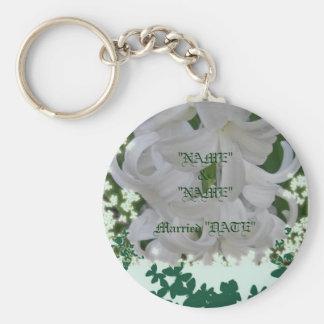 White Hyacinths & Butterflies Keychain 2 Customize