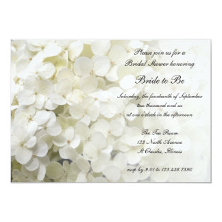 White Hydrangea Bridal Shower 13 Cm X 18 Cm Invitation Card