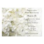 White Hydrangea Bridal Shower Invitation
