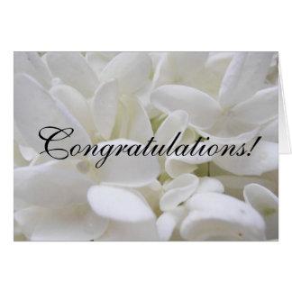 """White Hydrangea """"Congratulations"""" card"""