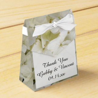 White Hydrangea Floral Wedding Favour Box