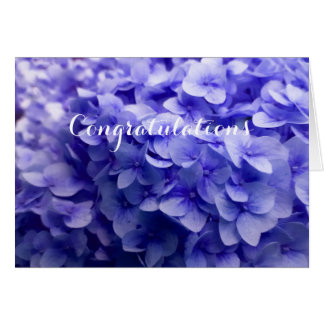 White Hydrangea flower background Card