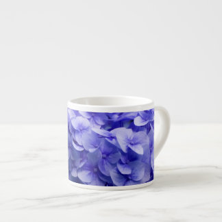 White Hydrangea flower background Espresso Cup