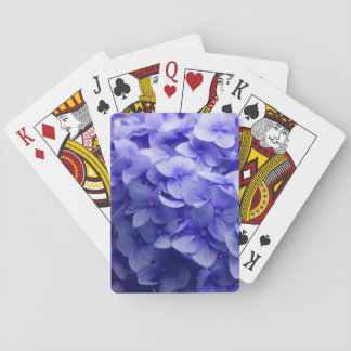 White Hydrangea flower background Playing Cards