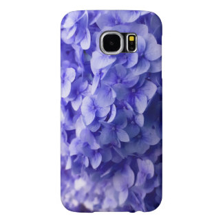 White Hydrangea flower background Samsung Galaxy S6 Cases