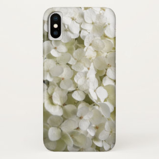 White Hydrangea Flowers iPhone X Case