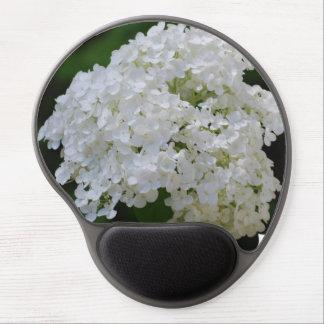 White Hydrangea Gel Mousepad